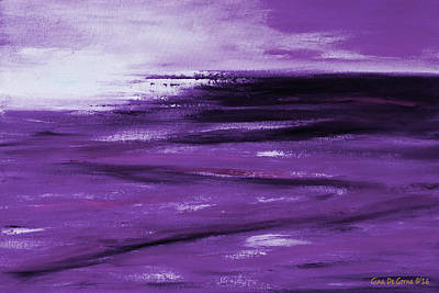 Painting - Purple Abstract Sunset by Gina De Gorna