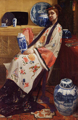 Whistler Painting - Purple And Rose - The Lange Leizen Of The Six Marks by James Abbott McNeill Whistler
