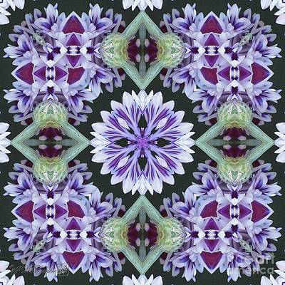 Photograph - Purple And White Frosted Queen Abstract by J McCombie