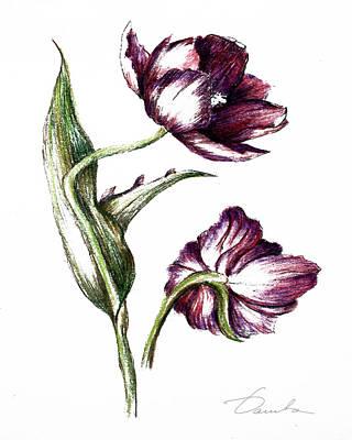 Purple Flower Print by Danuta Bennett
