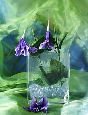 Purple Flowers Art Print by Florene Welebny