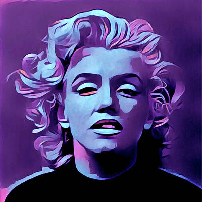 Digital Art - Purple Marilyn by Gary Grayson