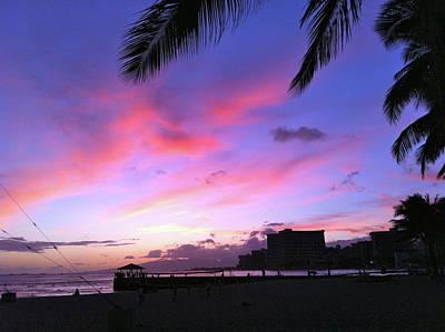 Photograph - Purple Ocean Sunset by Erika Swartzkopf
