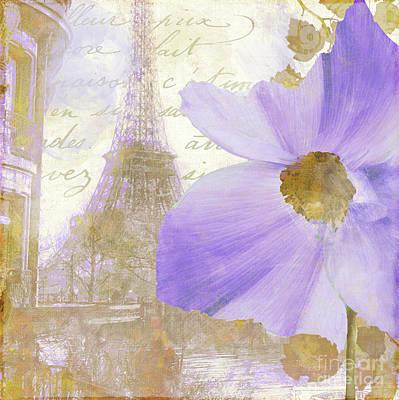 Paris Painting - Purple Paris I by Mindy Sommers