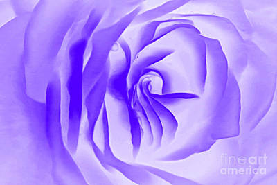 Abstract Rose Digital Art - Purple Promises by Krissy Katsimbras
