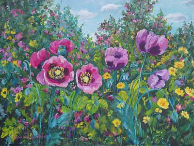 Painting - Purple Rain by Ingrid Dohm