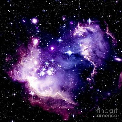 Purple Space Art Print by Johari Smith