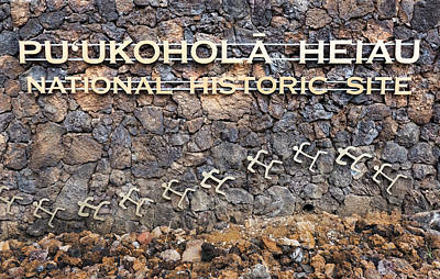 Photograph - Puukohola Heiau Historic Sight by Joe  Palermo