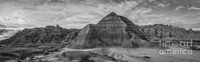 Sean Rights Managed Images - Pyramid in the Badlands Panorama Royalty-Free Image by Michael Ver Sprill