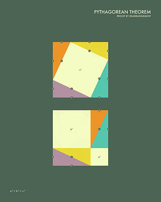 Pythagorean Theorem  Art Print by Jazzberry Blue