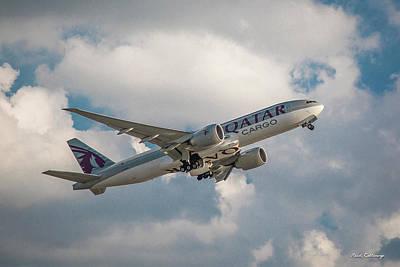 Photograph - Qatar Airways Boeing 777-300er Hartsfield-jackson Atlanta International Airport Art by Reid Callaway