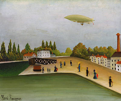 Outlook Painting - Quai D'ivry by Henri Rousseau
