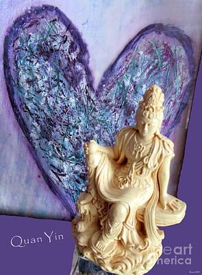 Photograph - Quan Yin Heart by Marlene Rose Besso