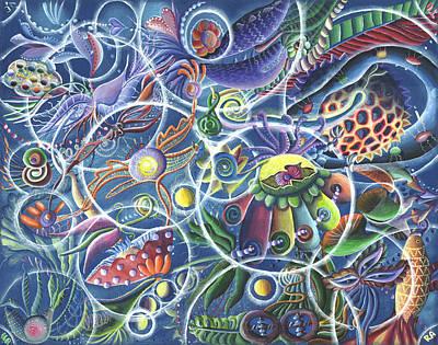 Quantum Entanglement Art Print by Vera Tour