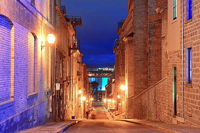 Photograph - Quebec City Old Street by Songquan Deng