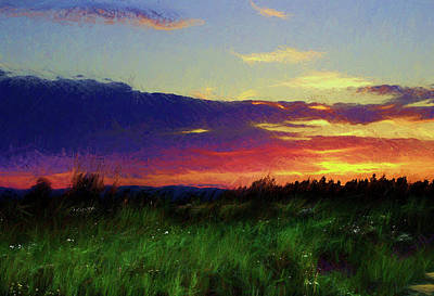 Digital Art - Quebec Sunset by Scott Carlton