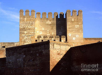 Quebrada Tower The Alcazaba The Alhambra Art Print by Guido Montanes Castillo