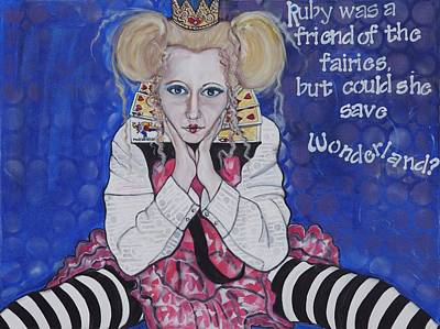Painting - Queen Of Hearts by Darlene Graeser