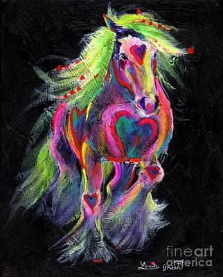 Queen Of Hearts Pony  Art Print by Louise Green