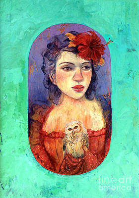 Thoughtfully Painting - Queen Of Wisdom by Tonya Engel
