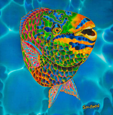 Painting - Queen Parrotfish by Daniel Jean-Baptiste