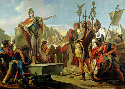 Painting - Queen Zenobia Addressing Her Soldiers by Giovanni Battista Tiepolo