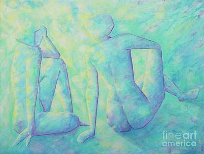 Painting - Quiet Conversation II by Jaswant Khalsa