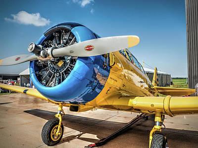 Flight Photograph - R C A F North American T-6 Texan  V4 by John Straton