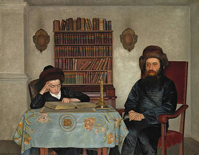 Painting - Rabbi With Young Student by Isidor Kaufmann