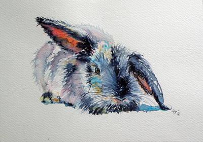Rabbit Art Print by Kovacs Anna Brigitta