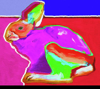 Limited Edition Mixed Media - Rabbit Red By Nixo by Nicholas Nixo