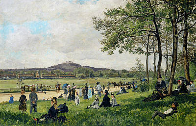 Race Course At Longchamps Art Print by French 19th Century