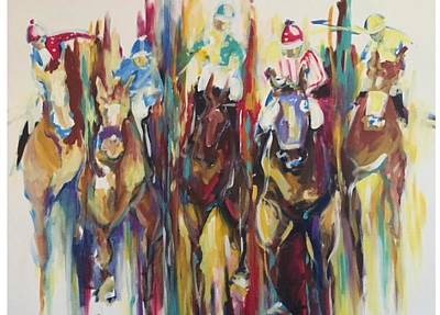 Race Horse Painting - Races by Heather Roddy