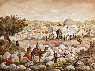 Rabbi Painting - Rachel's Tomb by Aryeh Weiss