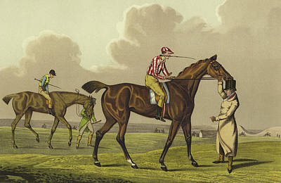 Horse Drawing - Racing by Henry Thomas Alken