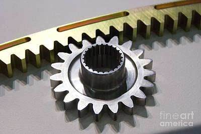 Pinion Photograph - Rack And Pinion by Mark Williamson