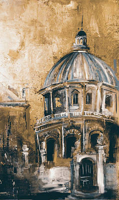 Radcliffe Camera, Oxford City 195 3 Art Print by Mawra Tahreem