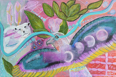 Condor Painting - Cosmic Flight by Liana Shanti