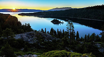Photograph - Radiant Sunrise On Emerald Bay by John Hight