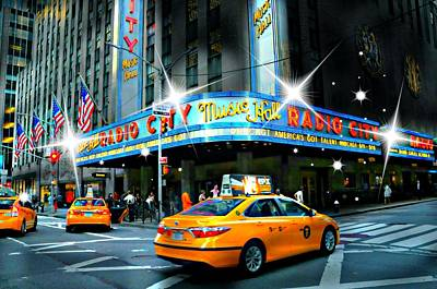 Radio City Print by Diana Angstadt