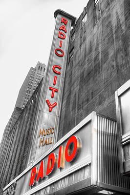 Photograph - Radio City Music Hall by David Pyatt