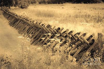 Wall Art - Photograph - Rail Fence by Marj Dubeau