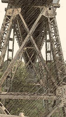 Rust Wall Art - Photograph - Railroad Tressel by Kimberly  W