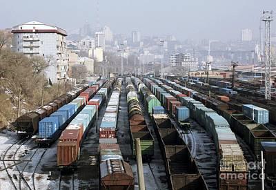 Railway Depot, Russia Art Print by RIA Novosti