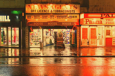 Photograph - Rain Town by Nick Barkworth