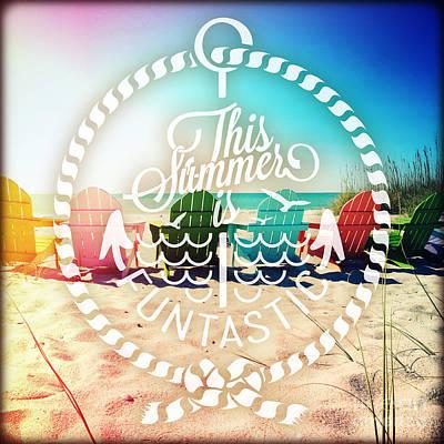 Sea Weed Mixed Media - Rainbow Beach by Chris Andruskiewicz