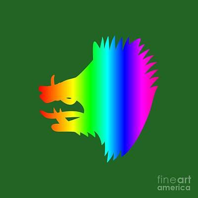 Rainbow Boar Art Print by Frederick Holiday