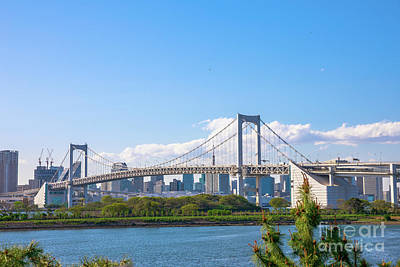 Photograph - Rainbow Bridge Odaiba by Benny Marty