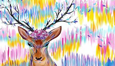 Rainbow Art Print by Cathy Jacobs