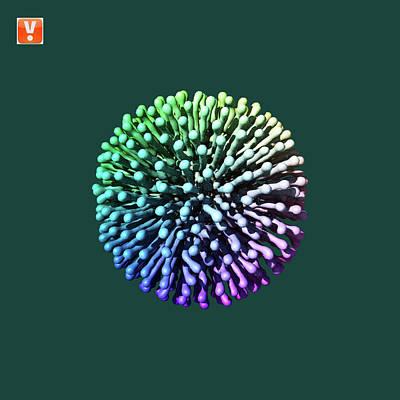 Diffusion Digital Art - Rainbow Diffusion by Harry Nicholas